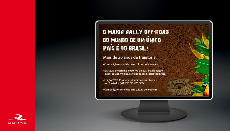 rally dos sertões landing page