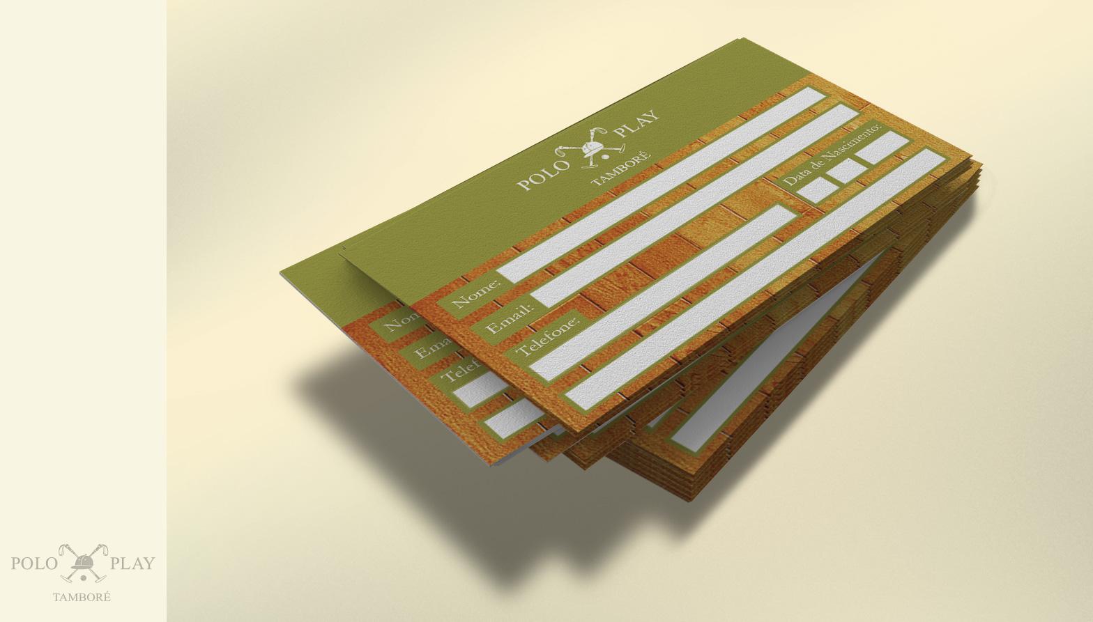 polo play cartão de visitas